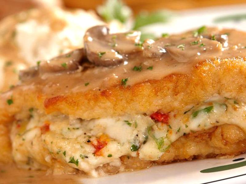 Copycat Olive Garden Stuffed Chicken Marsala