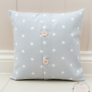 dotty grey cushion cover