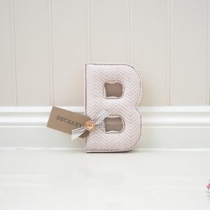 Pink Chevron Wall Letter