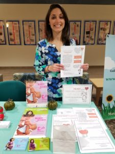 Sharing heart health information with new families!