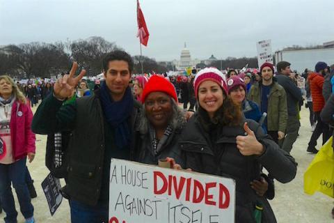 Image Gail Harris, DC Womens March