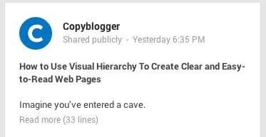 Titre Google+ de plus de 60 caractères