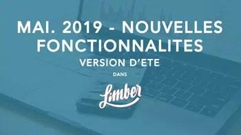 Nouvelles fonctionnalités - Mai 2019