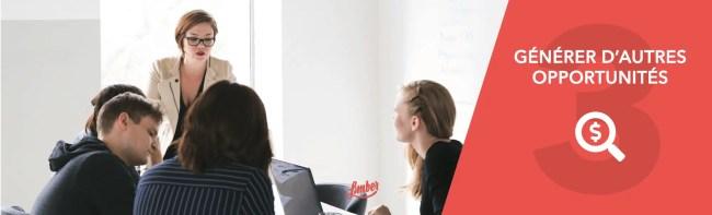 Stratégie 3 - Générer d'autres opportunités - Limber