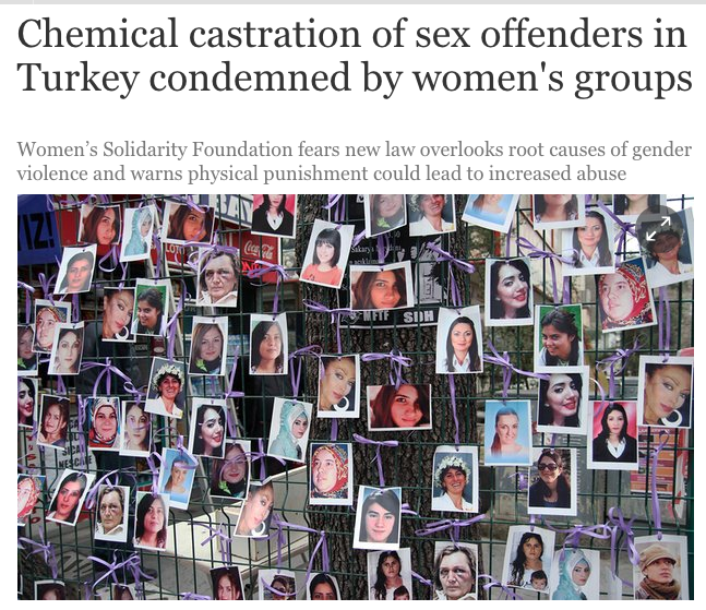 Chemical castration of sex offenders in Turkey condemned by women's groups | Global development | The Guardian 2016-08-17 19-01-10