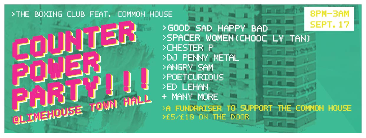 Counter/Power Party: A Common House Fundraiser