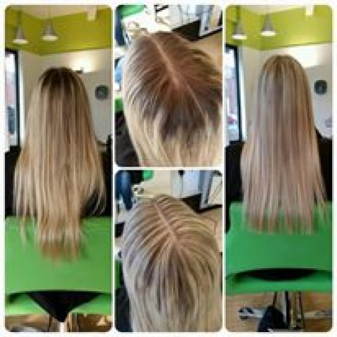 Creamy Blonde Highlights