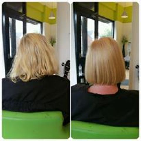 Golden Blonde Bob