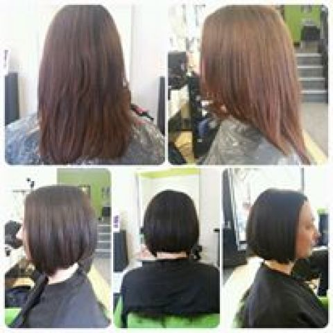 Dark Brown And Bob Restyle