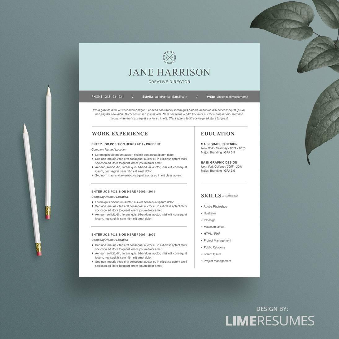 Modern Resumes. modern resume template for microsoft word ...