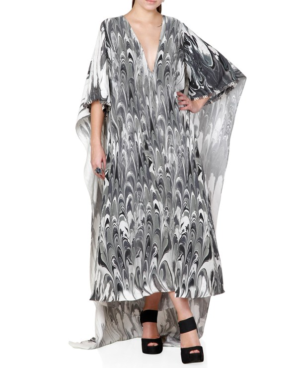Printed Cape Dress
