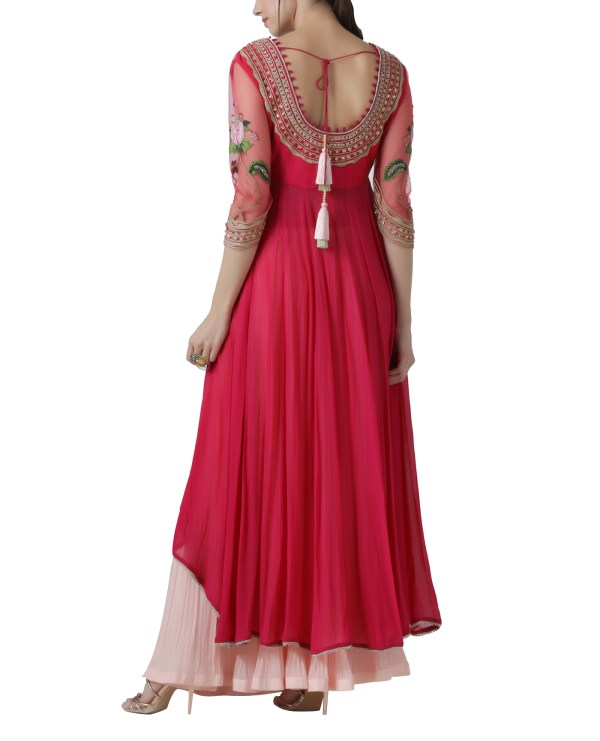 embroidered-kurta-lehenga-set