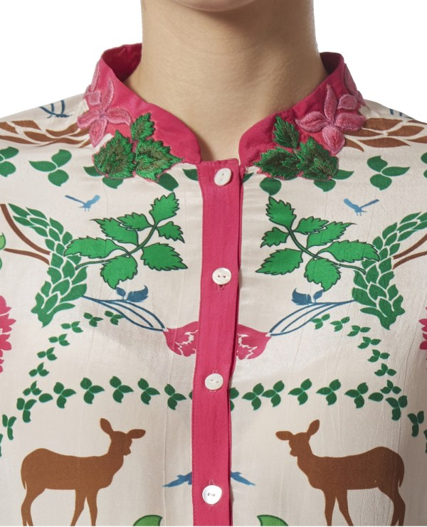 Embroidered High-Low Tunic