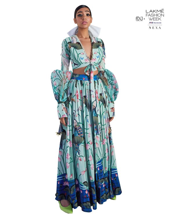 Limerick by Abirr n' Nanki Embroidered Maxi dress