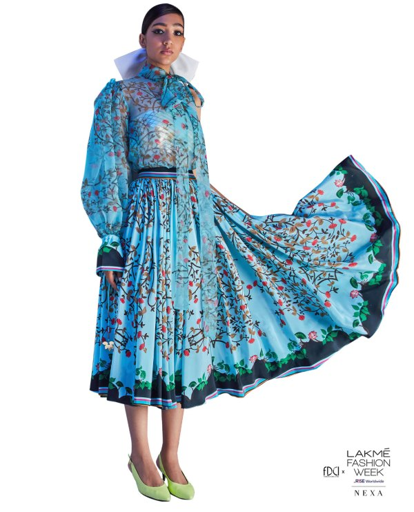 Limerick by Abirr n' Nanki Printed Skirt