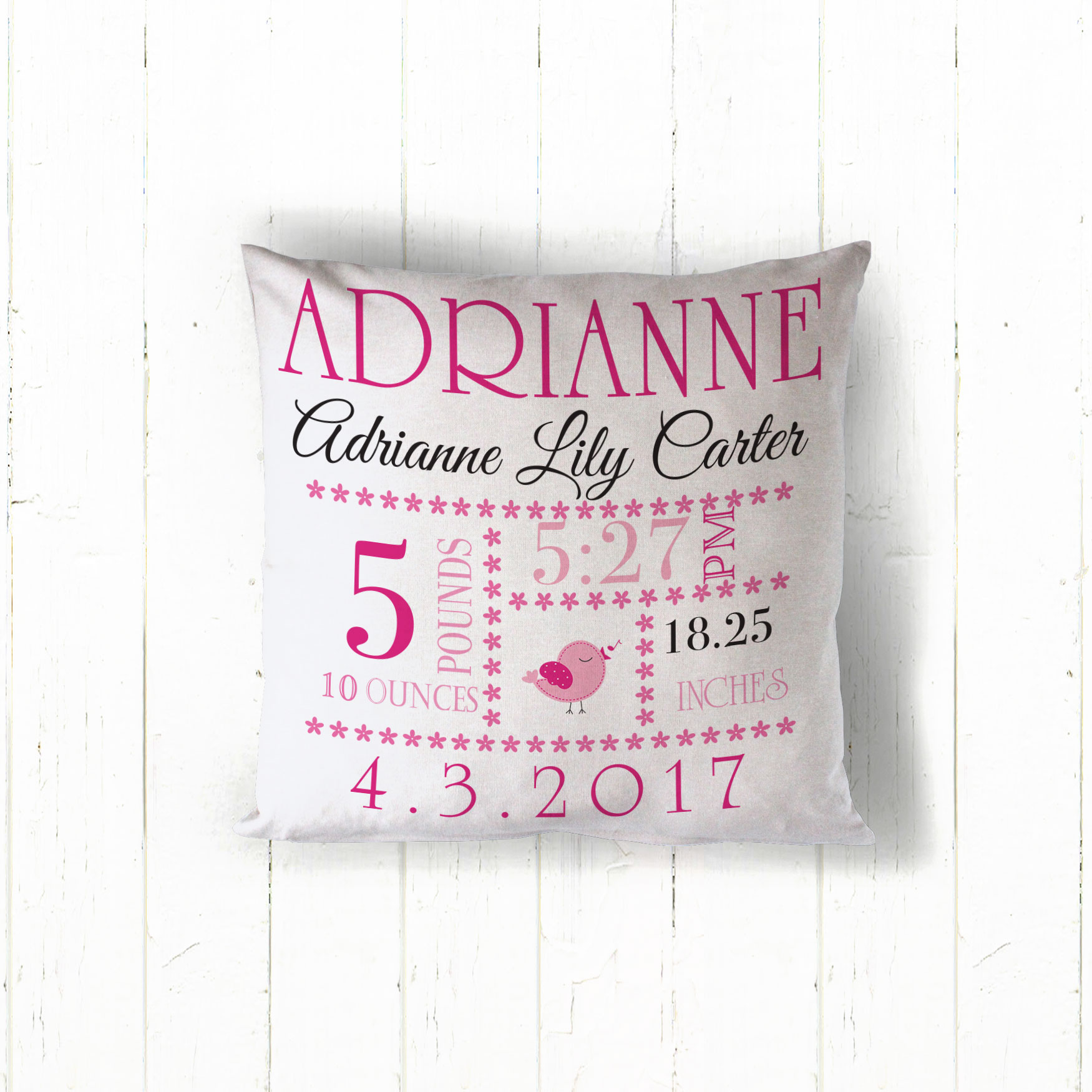 birth announcement decorative throw pillow baby girl announcement decorative pillow name date monogrammed baby pillow personalized wedding gift monogrammed throw pillow unique monogrammed pillows custom monogrammed pillows