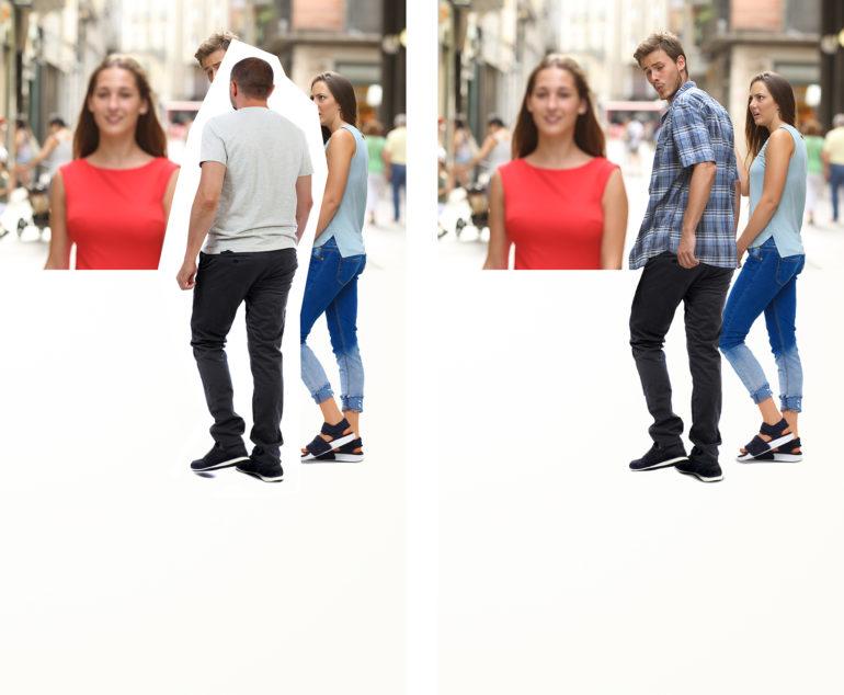 Meme Marketing Der Ursprung Des Distracted Boyfriend Meme