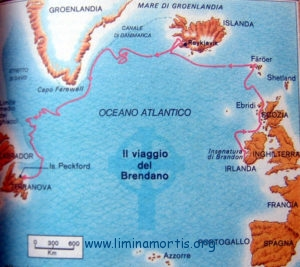 Saint Brendan - Map of voyages