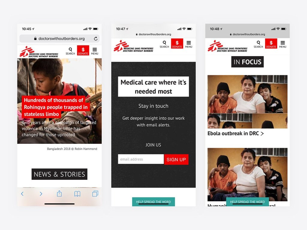 Top Nonprofit Websites -- Doctors without Borders