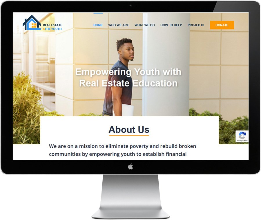Real Estate 4 The Youth -- brandign, design by LIMIT8 Nonprofit Design Experts