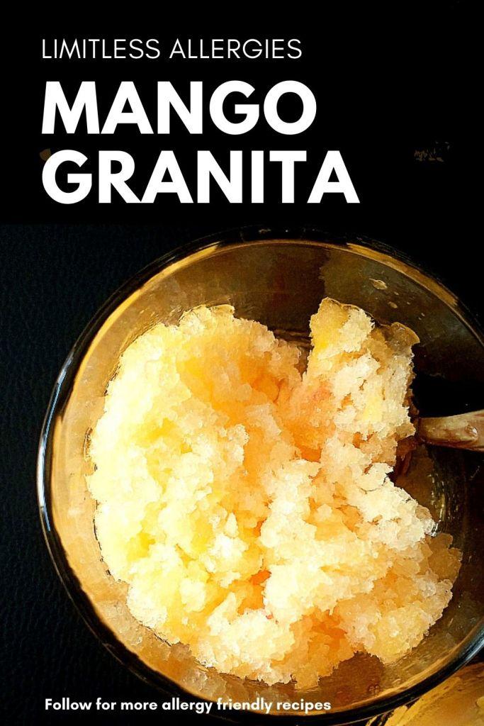 pinning image for mango granita