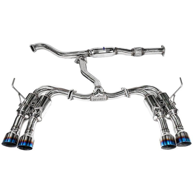 invidia r400 gemini cat back exhaust w titanium tips