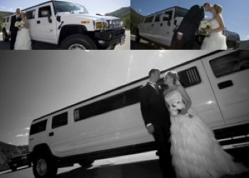Picture of Hummer wedding limousine