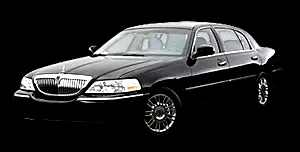Image of Black Lincoln Town Car