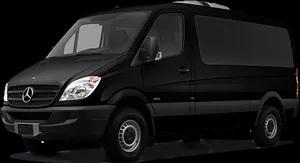 Picture of Black Mercedes Sprinter van