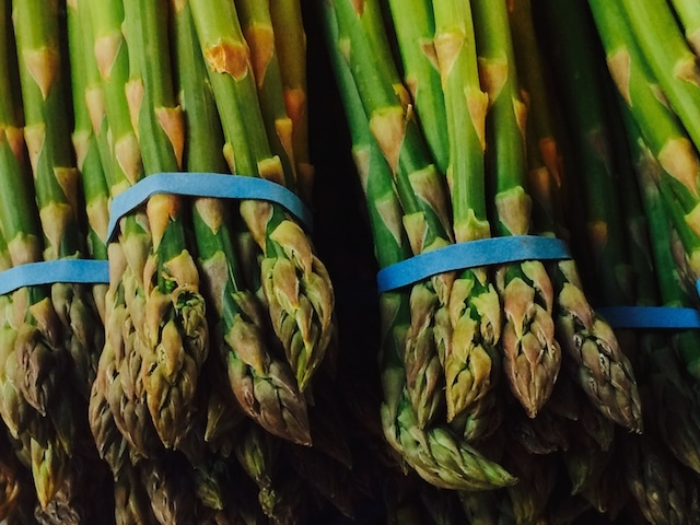 British asparagus in season. I like the way it makes my pee smell.