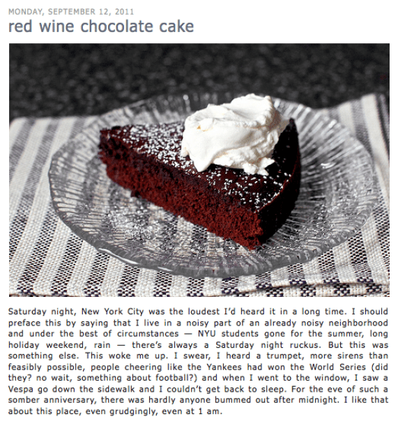 The Smitten Kitchen's Red Wine Chocolate Cake