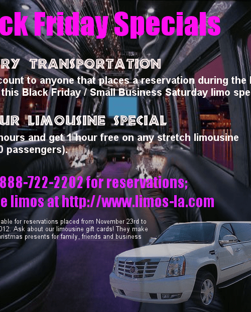 Orange County Limousine Service - Black Friday Deals & Small Business Saturday