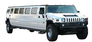White Hummer Limousine for prom, quinceanera and wedding limo in Orange County