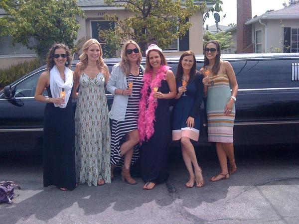 Lovely ladies take a limousine from Anaheim to Las Vegas, NV. Orange County / Las Vegas limousine service.