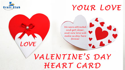 How-To-Make-Valentine's-Day-Heart-Greeting-Card-(Step-by-Step-DIY)---Lina's-Craft-Club