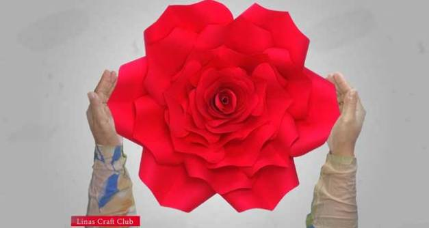 how to make paper flower at home easy archives linas craft club
