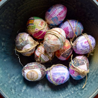 DIY Vintage Easter Eggs