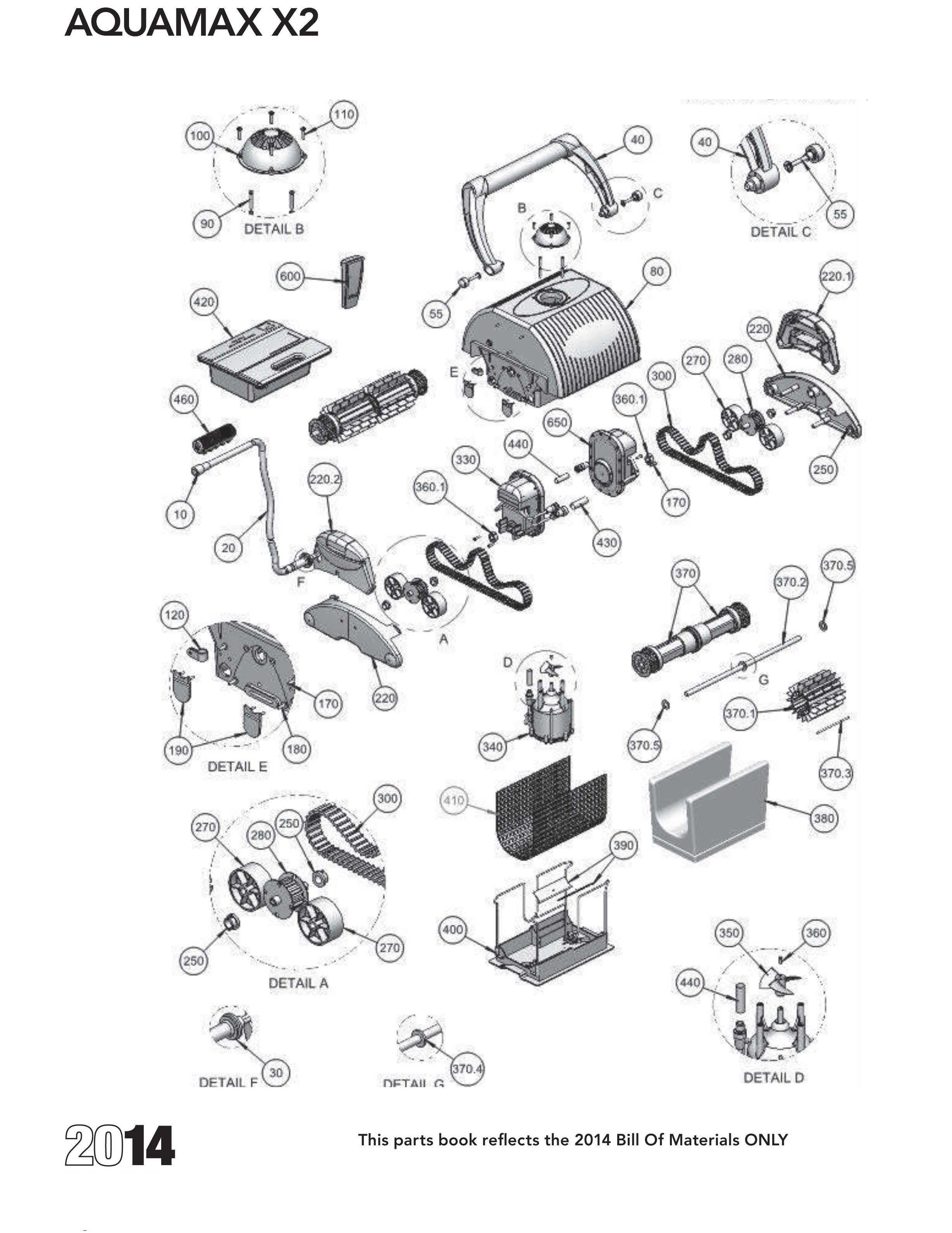 Aquamax X2 Diagram Amp Parts List