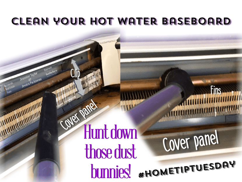 Clean your hot water baseboard for how-to post