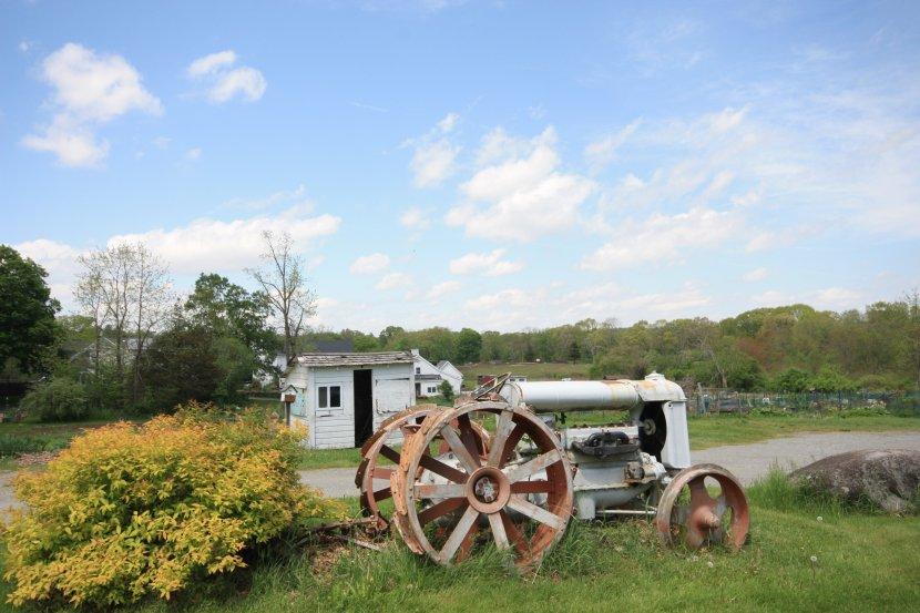 codman farm Lincoln MA tractor