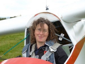 Katharine York, secretary, webmaster, and - more importantly - glider pilot