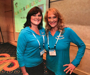 """With co-speaker Cindy Boggs at """"Fun, Fit & Fabulous"""""""
