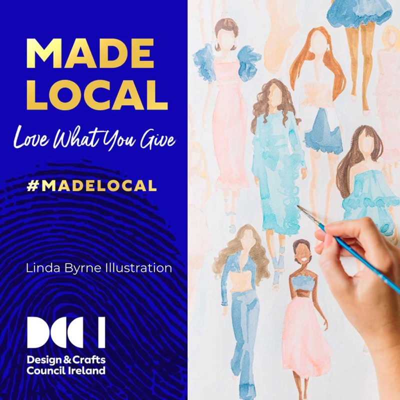 MADELOCAL Campaign with DCCI and Linda Byrne Illustration