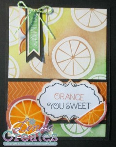 Close to My Heart Taste of Summer Orange You Sweet Card - Linda Creates www.lindacreates.com www.lindacreates.ctmh.com