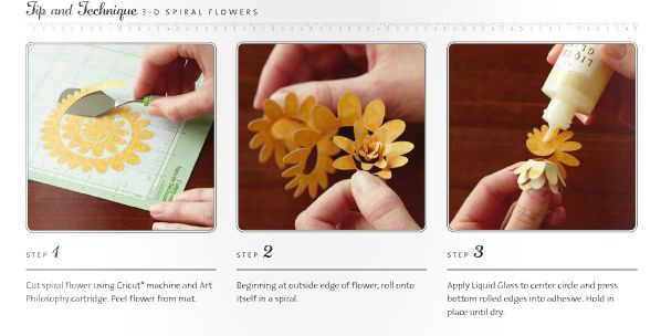 Rolling 3D flowers Linda Creates ~ Linda Caler www.lindacreates.com