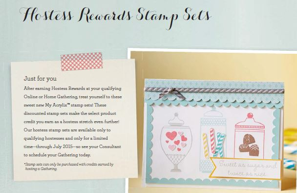 Hostess Reward Stamp Sets By CTMH Linda Creates ~ Linda Caler www.lindacreates.com