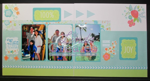 Blossom Scrapbook Layout - Linda Creates www.lindacreates.com
