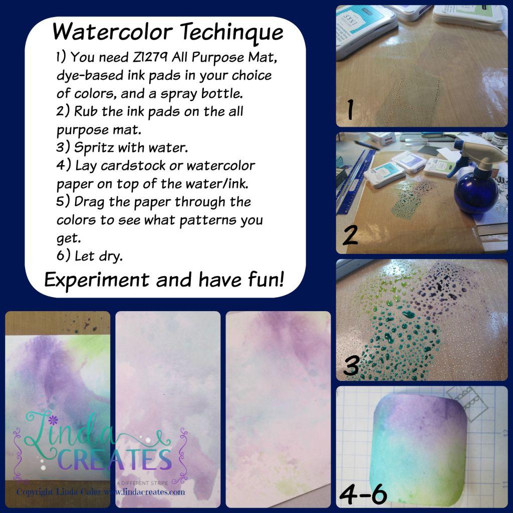 Watercolor Technique Collage wm