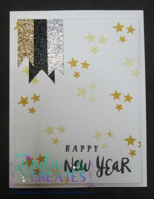 Happy New Year card wm