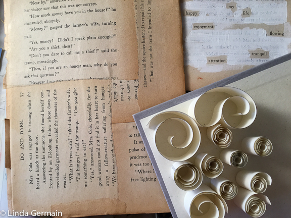 Use old books to make art